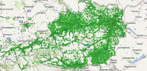 RTR-Netztest Karte