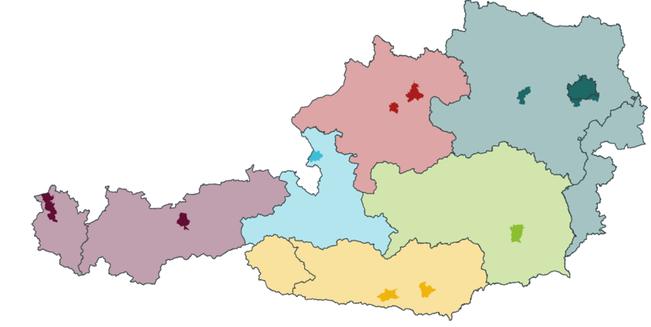 Die Nutzungsrechte werden in zwölf Regionen vergeben.